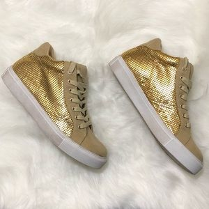 Coconuts by Matisse Gold Fashion Sneakers